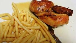 Picantó rostit al forn amb patates fregides