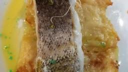 Lluç amb gratinat de patates