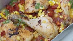 Cuixes de pollastre rostides amb verdures