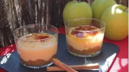 Crema catalana amb poma caramel·litzada