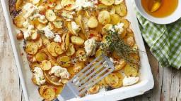 Patates al forn amb ricota i mel