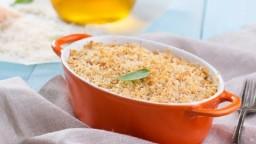 Gratin de pasta amb pa ratllat
