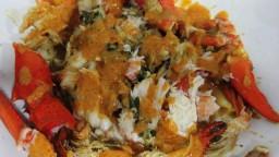 Llamàntol bullit amb salsa de romesco amb toc de mostassa