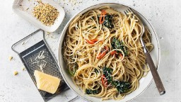 Espagueti amb oli de cànem