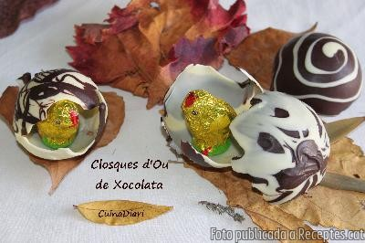 Closques d'ou de xocolata